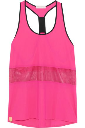 MONREAL LONDON Racer mesh-paneled stretch-jersey tank