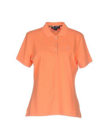 AQUASCUTUM レディース ポロシャツ オレンジ XS コットン 100%