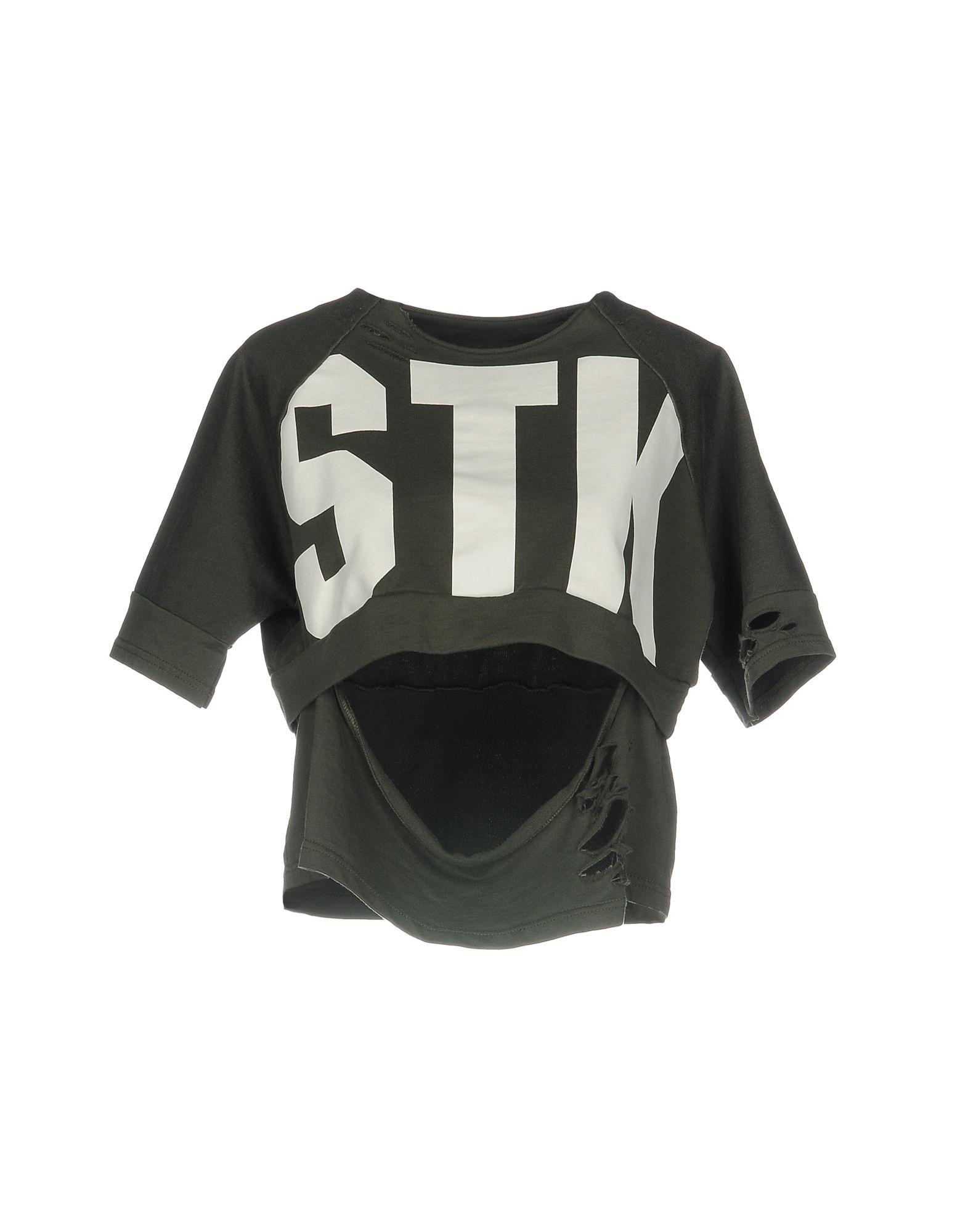 《送料無料》STK SUPERTOKYO レディース スウェットシャツ ミリタリーグリーン M コットン 100%