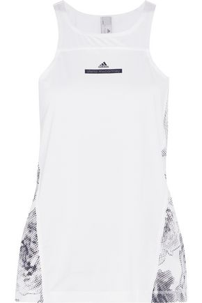 ADIDAS by STELLA McCARTNEY Run floral-print mesh-paneled stretch tank