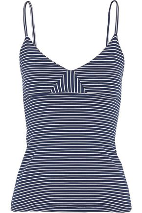 OLYMPIA ACTIVEWEAR Marlo striped stretch-jersey tank