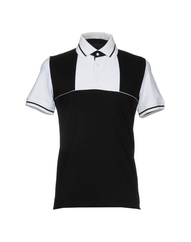 ALESSANDRO DELL'ACQUA メンズ ポロシャツ ブラック S コットン 100%