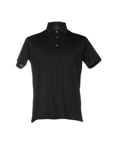 ALESSANDRO DELL'ACQUA メンズ ポロシャツ ブラック M コットン 100%