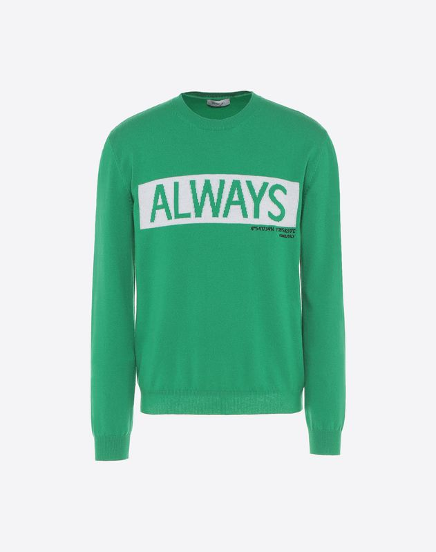 Always intarsia sweater