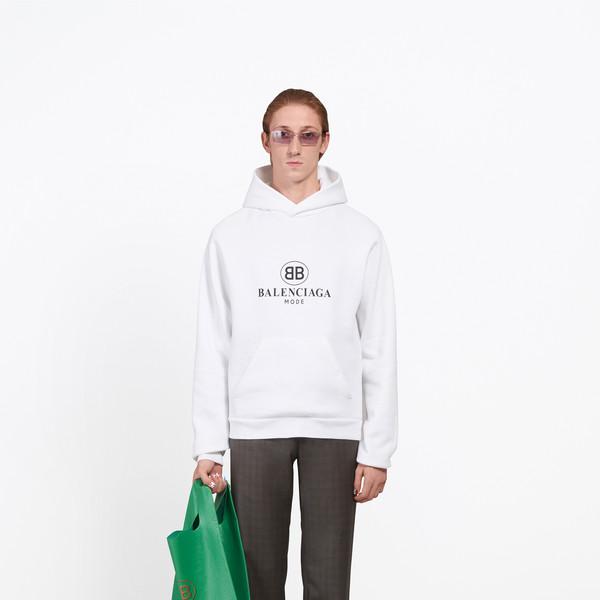 Cárdigan con capucha BB Balenciaga Mode