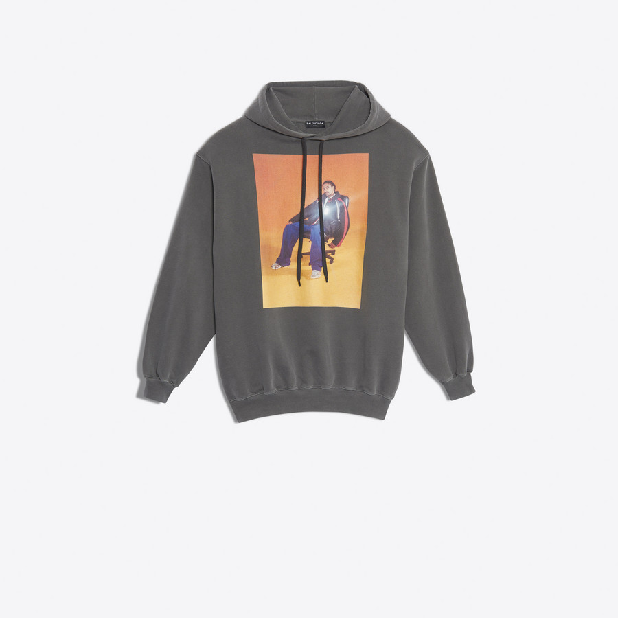 balenciaga hoodie mens brown