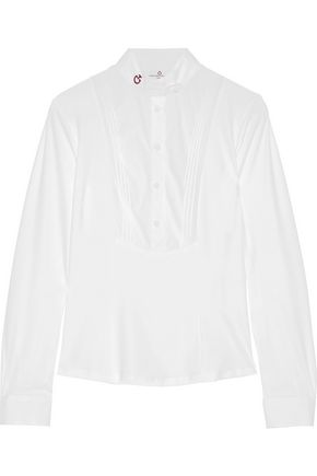 CAVALLERIA TOSCANA Stretch cotton-blend poplin top