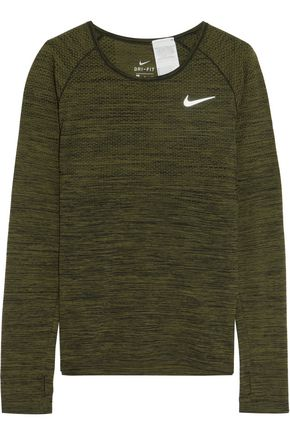 NIKE Perforated Dri-FIT stretch-jersey top