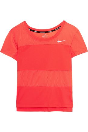 NIKE Paneled mesh and Dri-FIT stretch-jersey top