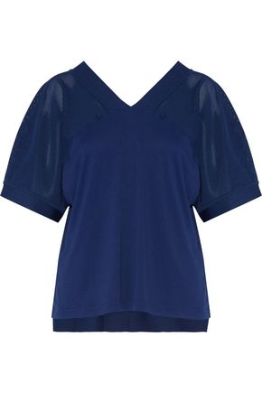 ADIDAS by STELLA McCARTNEY Mesh-paneled piqué top