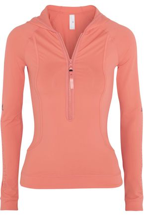 ADIDAS by STELLA McCARTNEY Logo Climalite® stretch-jersey hooded top