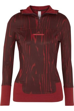 ADIDAS by STELLA McCARTNEY Hooded printed stretch top