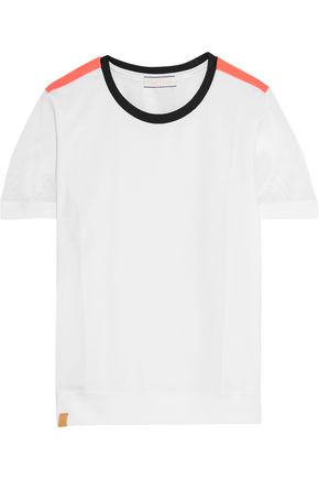 MONREAL LONDON Mesh-trimmed stretch-jersey T-shirt