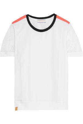 MONREAL LONDON Mesh-trimmed stretch-jersey T-shirt