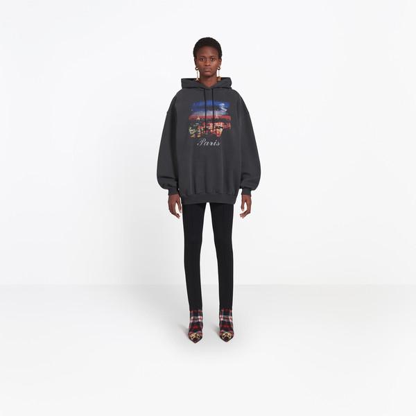 BALENCIAGA JERSEY Woman Paris Hoodie Sweater g
