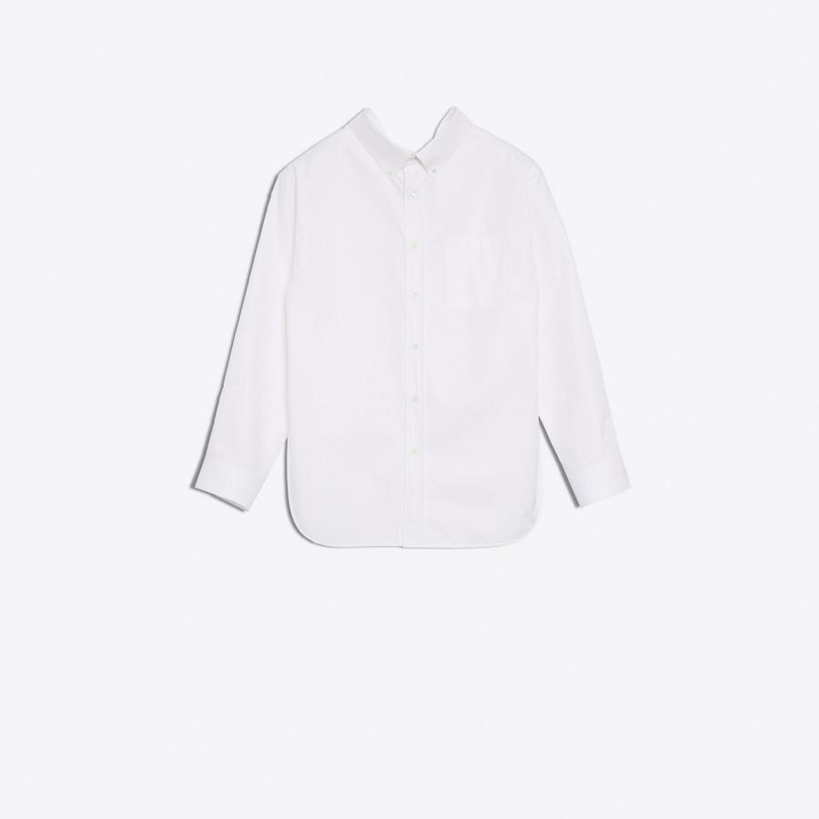 White Swing Collar Shirt Balenciaga Choice Cheap Price Low Price Fee Shipping Online Sale Wholesale Price HsPd3Rv
