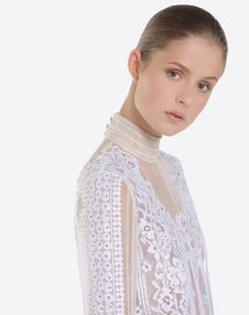 蕾丝雪纺上衣