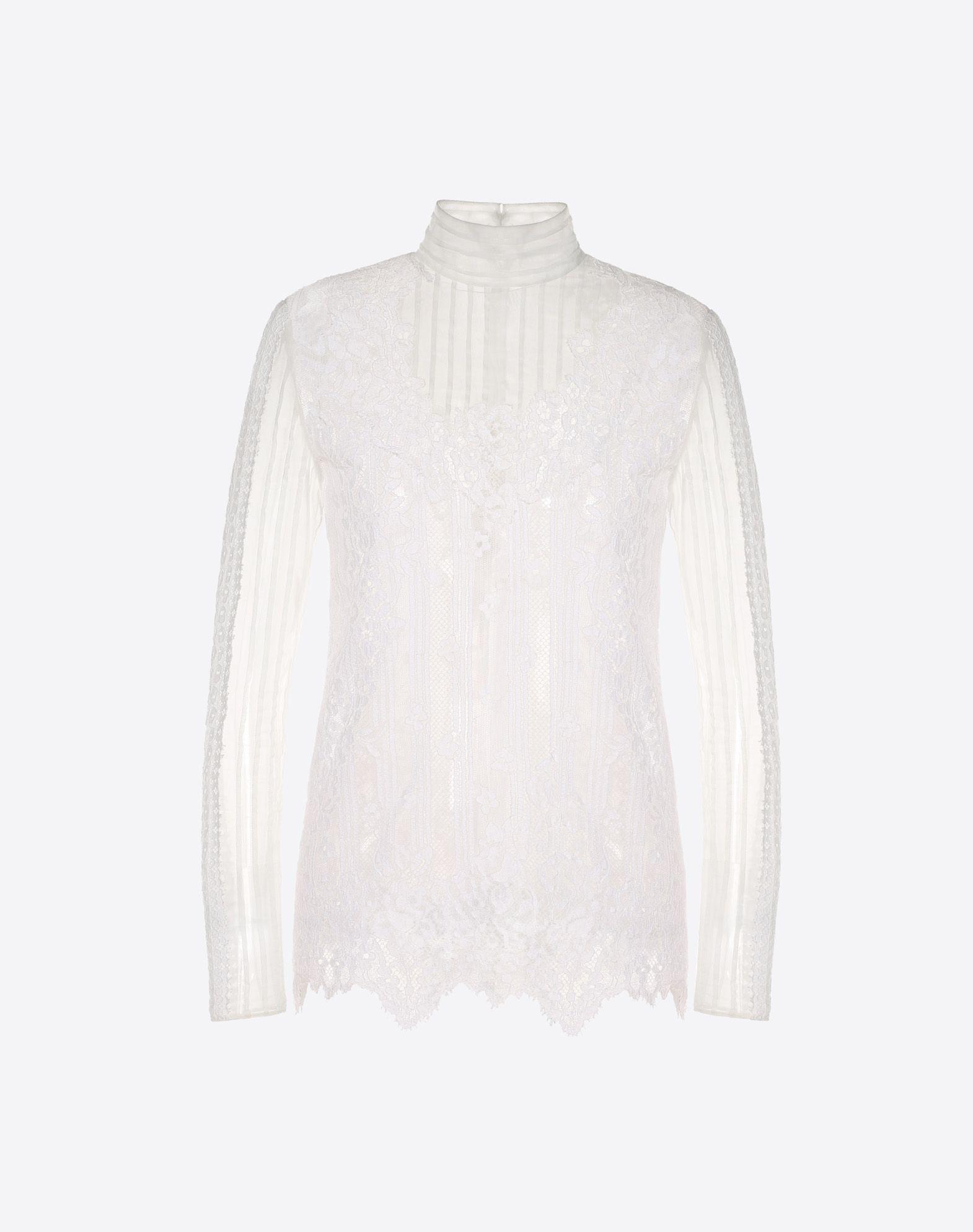 Chiffon and lace top