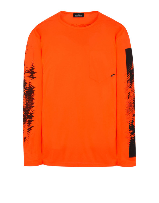 Langärmliges Shirt 20210 PRINTED LS CATCH POCKET-T 1 (JERSEY MAKO) STONE ISLAND SHADOW PROJECT - 0