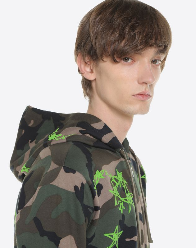 Hooded camouflage sweatshirt