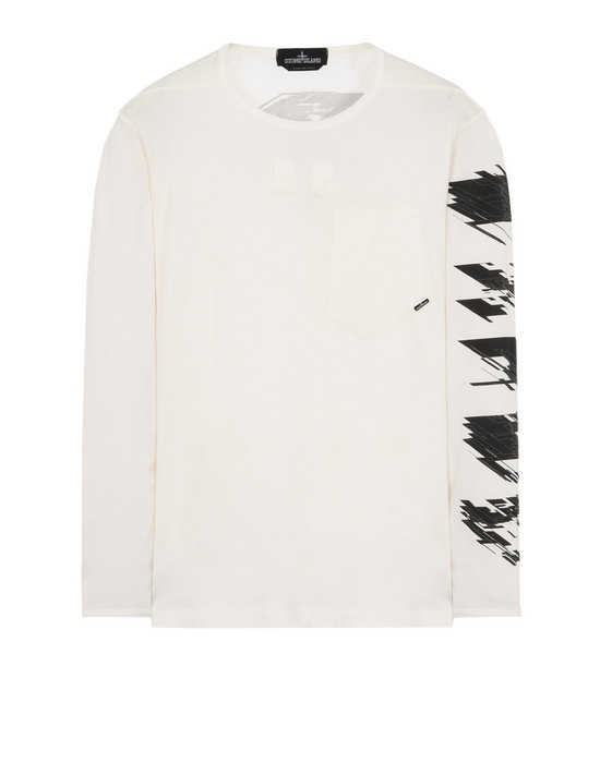 Long sleeve t-shirt 20310 PRINTED LS CATCH POCKET-T 2 WITH CHAMBER POCKETS (JERSEY MAKO) STONE ISLAND SHADOW PROJECT - 0