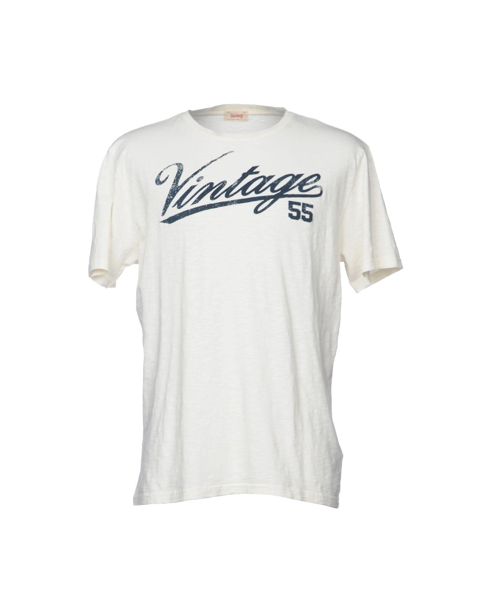《送料無料》VINTAGE 55 メンズ T シャツ アイボリー XS コットン 100%