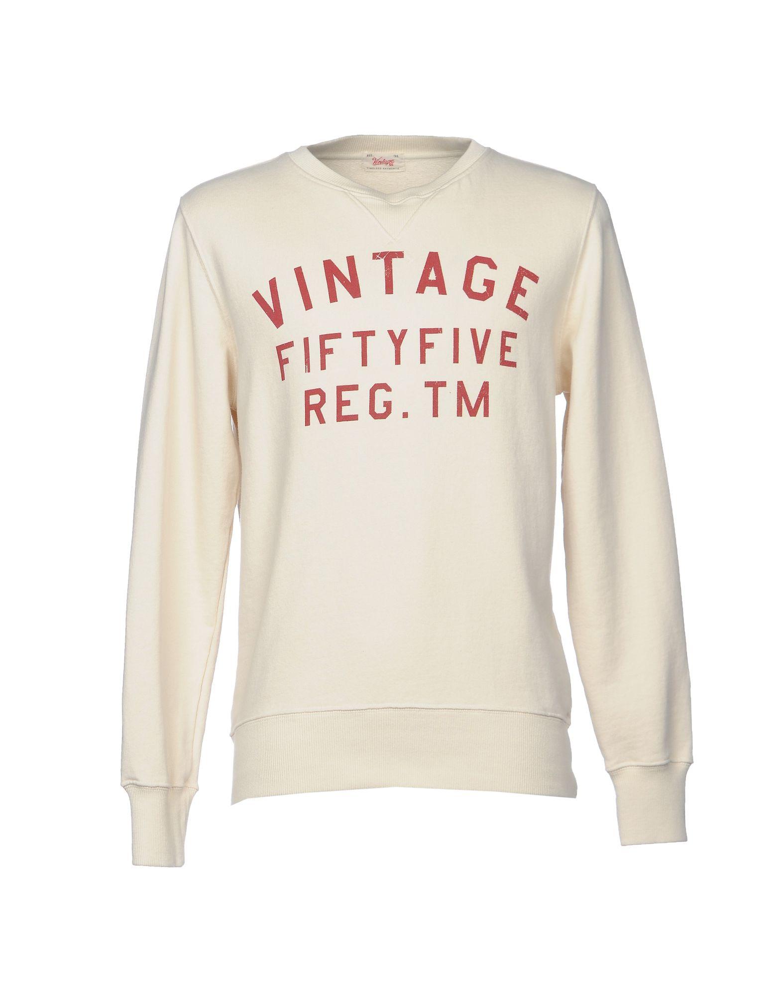 《送料無料》VINTAGE 55 メンズ スウェットシャツ アイボリー XL コットン 100%
