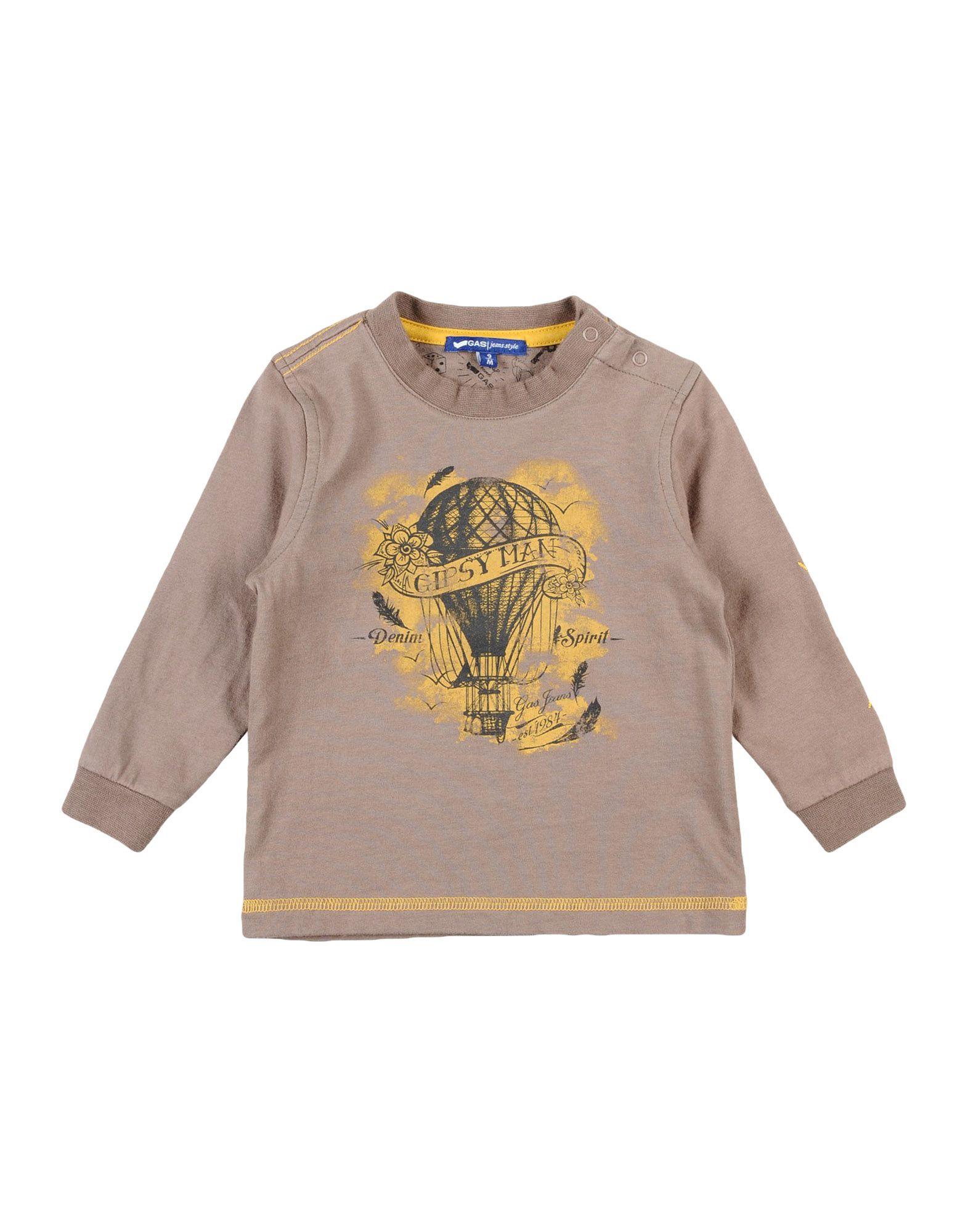 Gas Kids' T-shirts In Neutrals