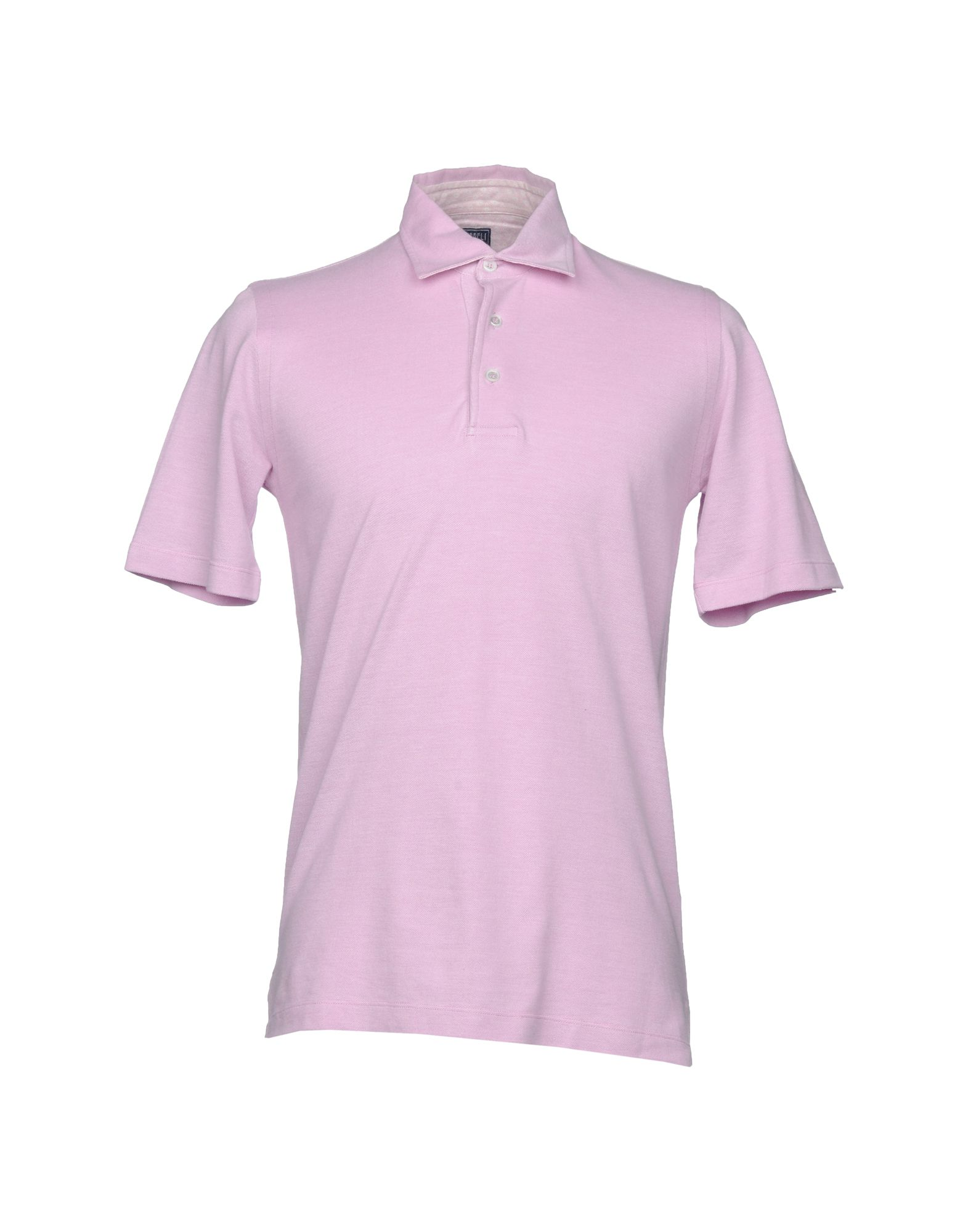 FEDELI メンズ ポロシャツ ピンク 50 コットン 100%