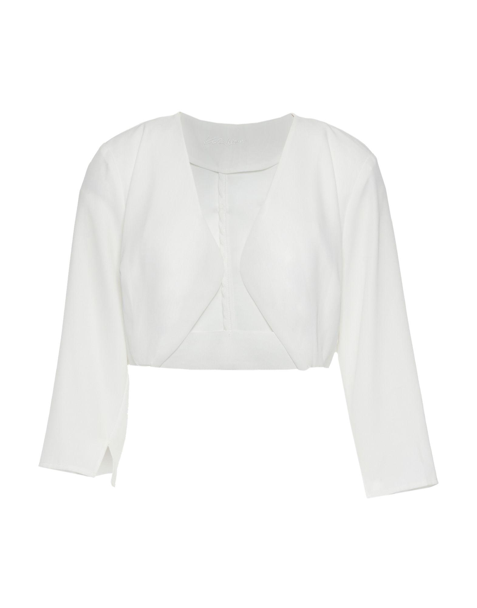KORALLINE Damen Bolero Farbe Weiß Größe 5