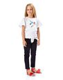 LANVIN Polo - T-Shirt Childrenswear Donna T-SHIRT CON STAMPA BIRD f