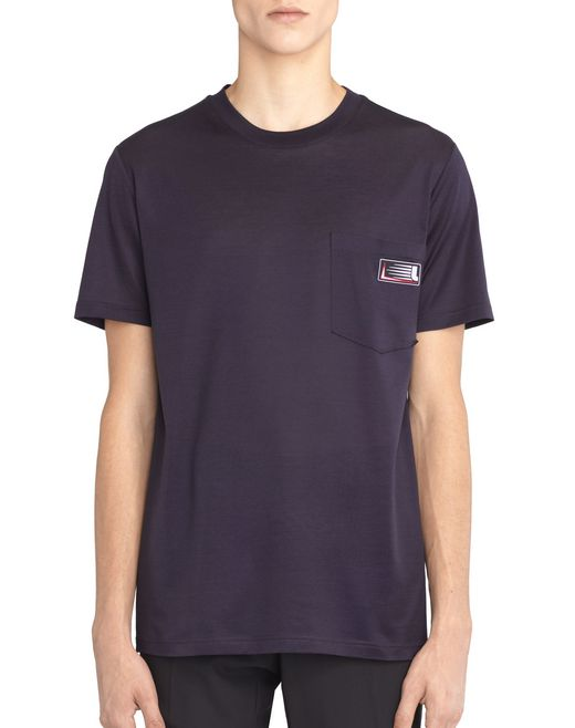 INK-COLORED PATCH T-SHIRT - Lanvin
