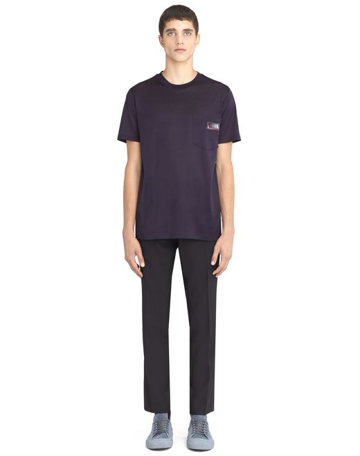 lanvin ink-colored patch t-shirt men