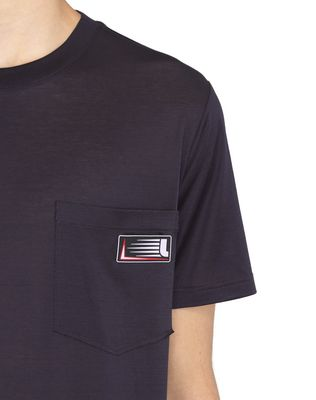 LANVIN INK-COLORED PATCH T-SHIRT Polos & T-Shirts U a