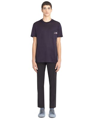 LANVIN INK-COLORED PATCH T-SHIRT Polos & T-Shirts U r