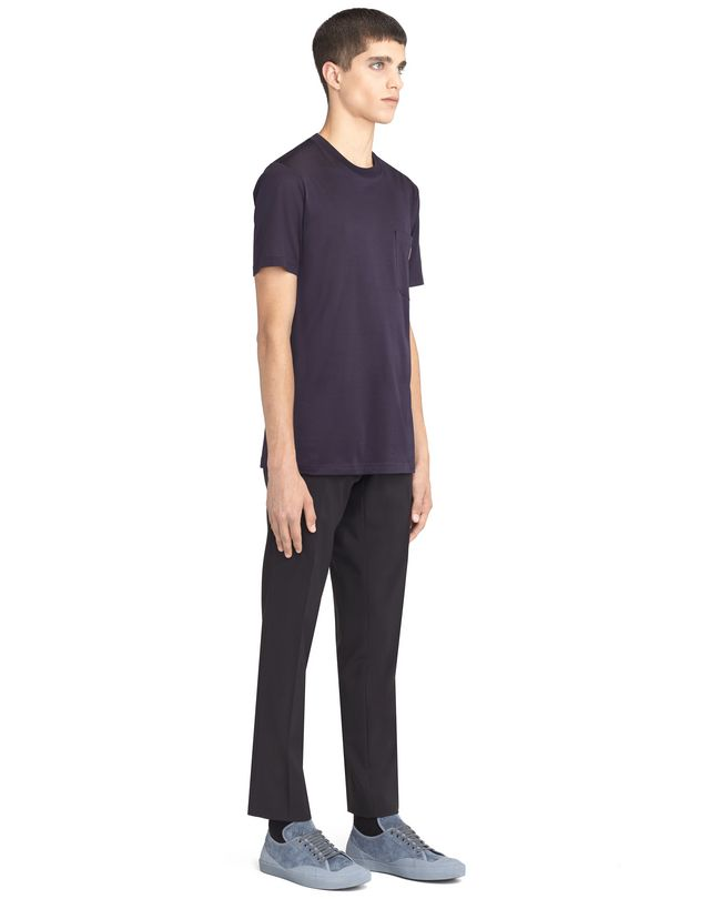 LANVIN INK-COLORED PATCH T-SHIRT Polos & T-Shirts U e