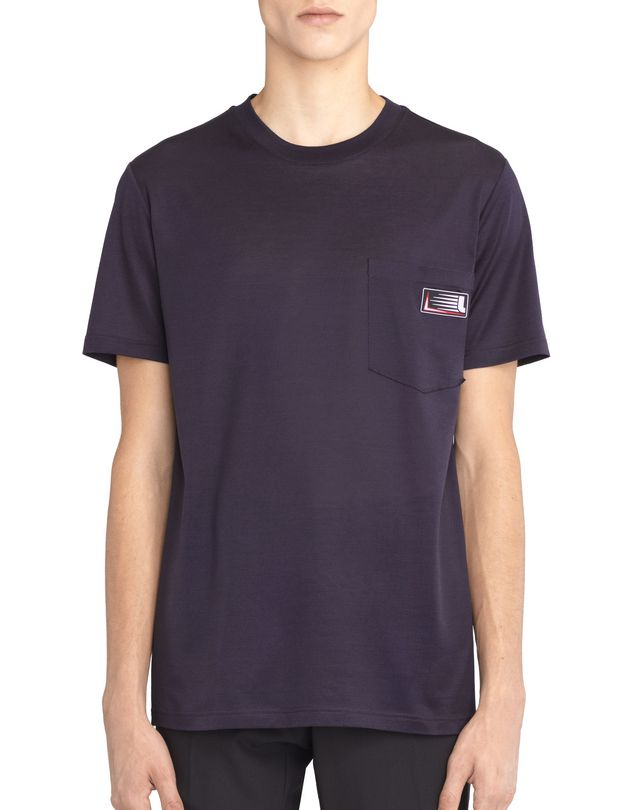 LANVIN INK-COLORED PATCH T-SHIRT Polos & T-Shirts U f