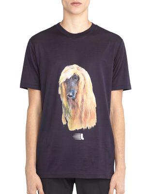 "LANVIN ""AFGHAN HOUND"" T-SHIRT Polos & T-Shirts U f"