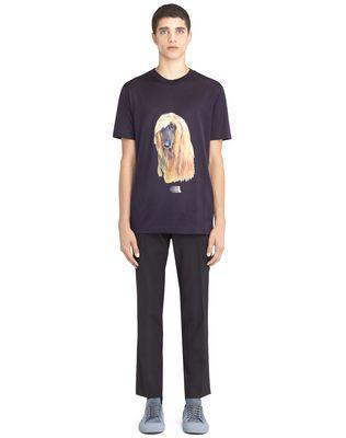 "LANVIN ""AFGHAN HOUND"" T-SHIRT Polos & T-Shirts U r"