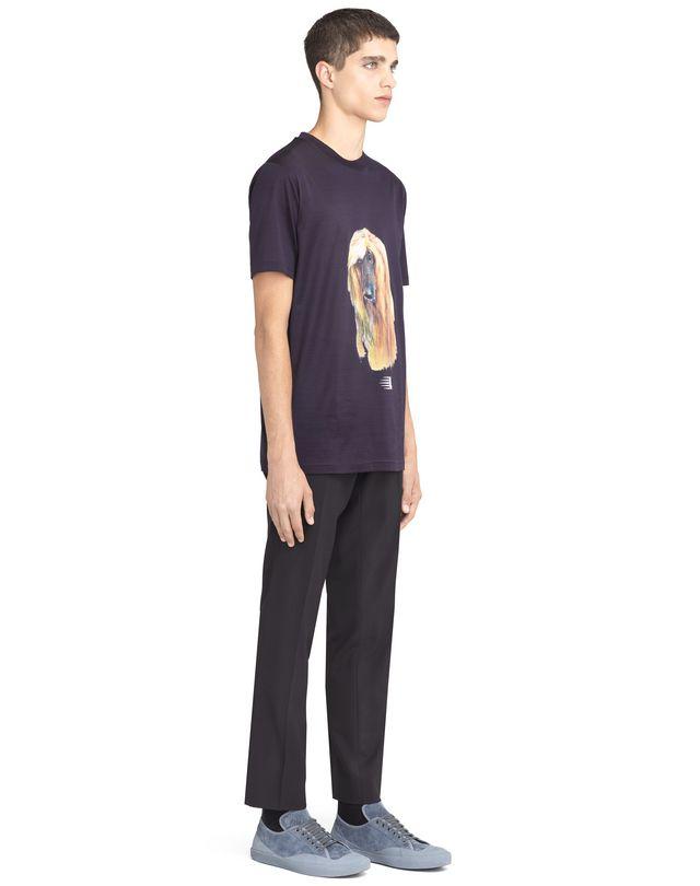 "LANVIN ""AFGHAN HOUND"" T-SHIRT Polos & T-Shirts U e"