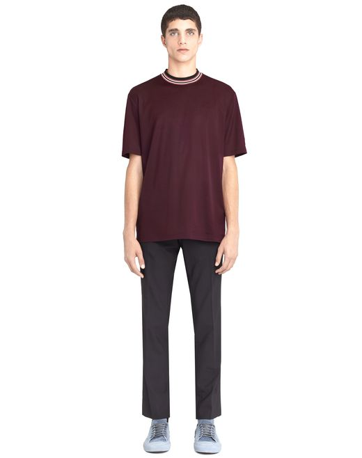 lanvin striped collar t-shirt men