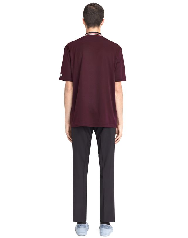 LANVIN STRIPED COLLAR T-SHIRT Polos & T-Shirts U d