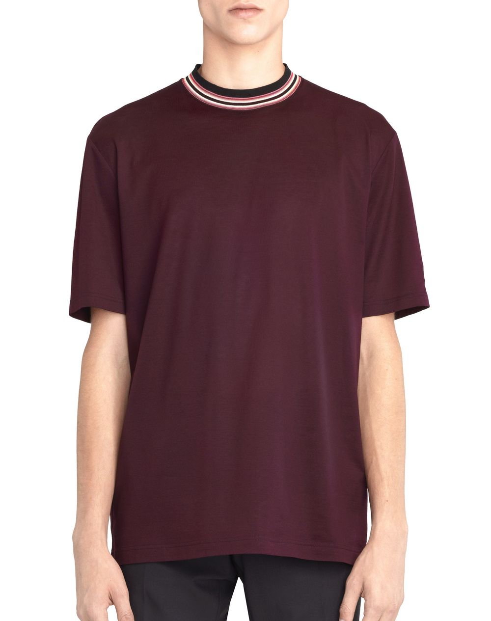 STRIPED COLLAR T-SHIRT - Lanvin