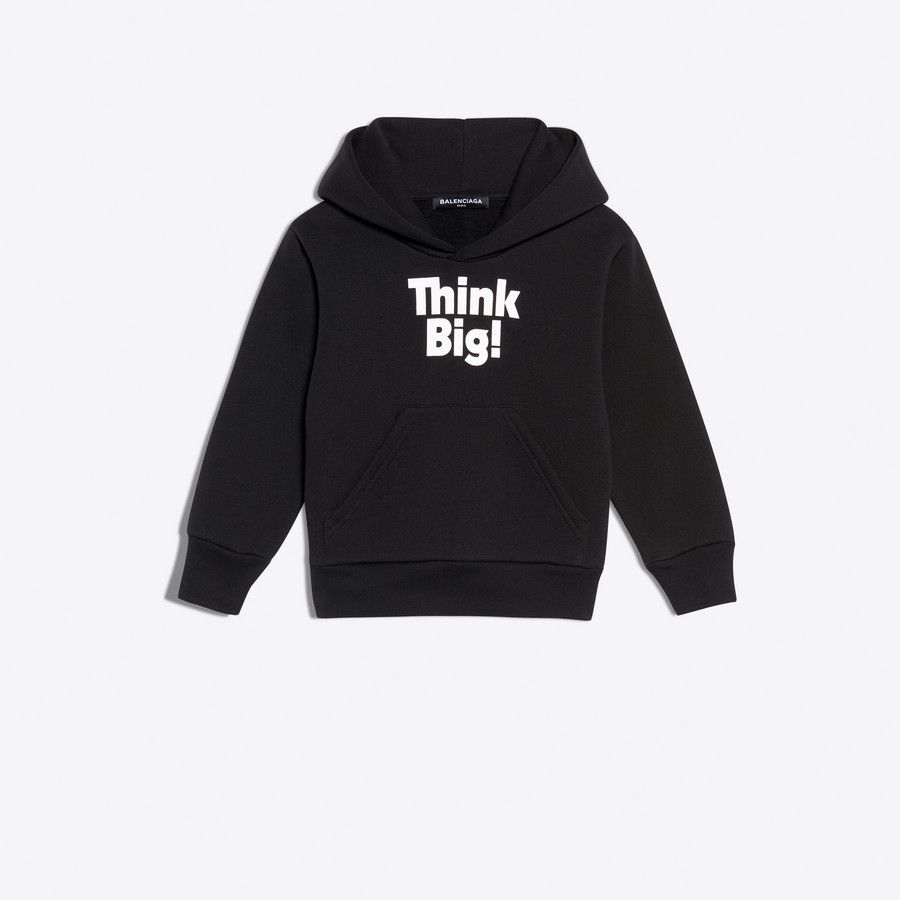 BALENCIAGA KIDS Kids - Hoodie Sweater 'Think Big' SWEATER E f