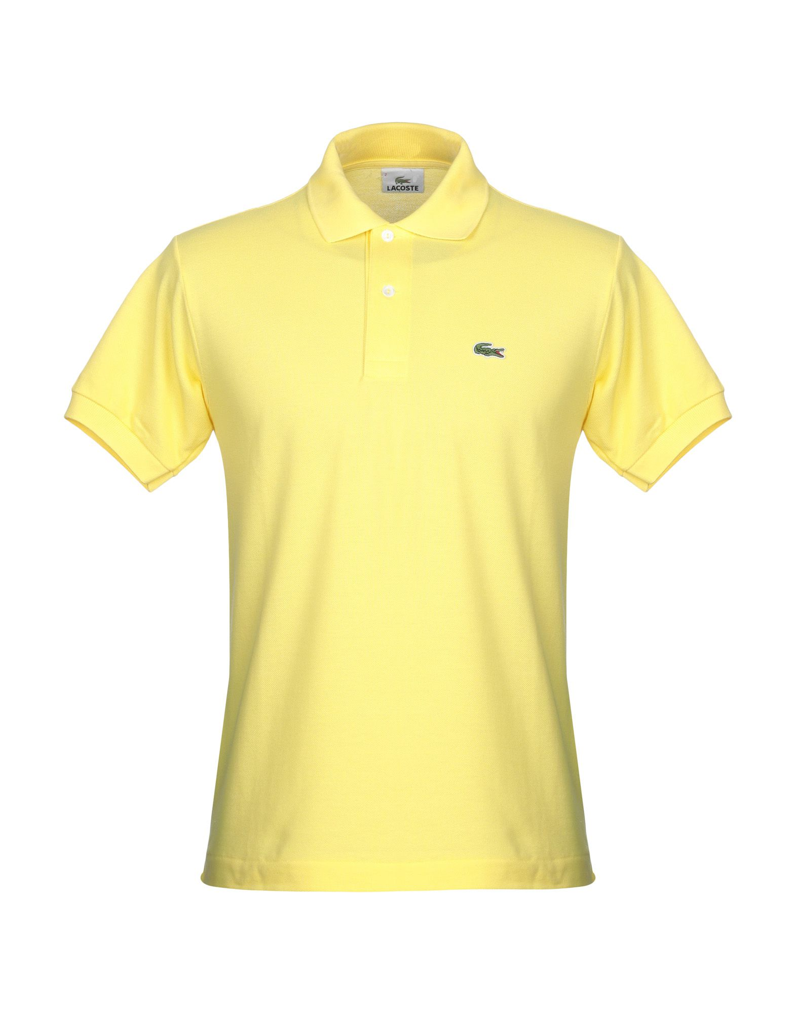 《送料無料》LACOSTE メンズ ポロシャツ イエロー 2 コットン 100%