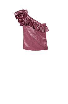 PHILOSOPHY di LORENZO SERAFINI Shiny lurex Top ONE-SHOULDER LUREX TOP Woman f