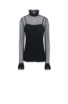 PHILOSOPHY di LORENZO SERAFINI Lace blouse with rouches Blouse Woman f