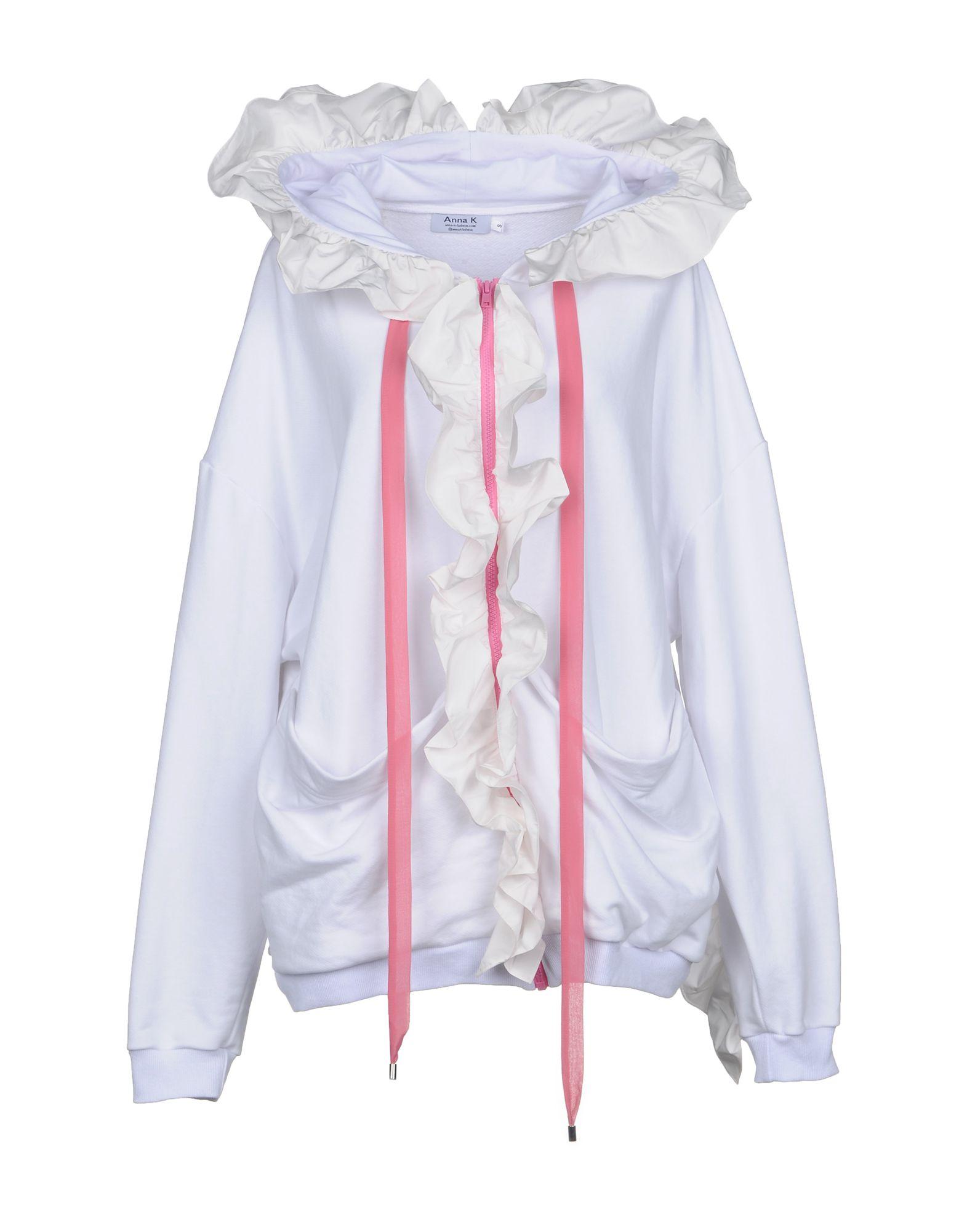 ANNA K Hooded Sweatshirt in White
