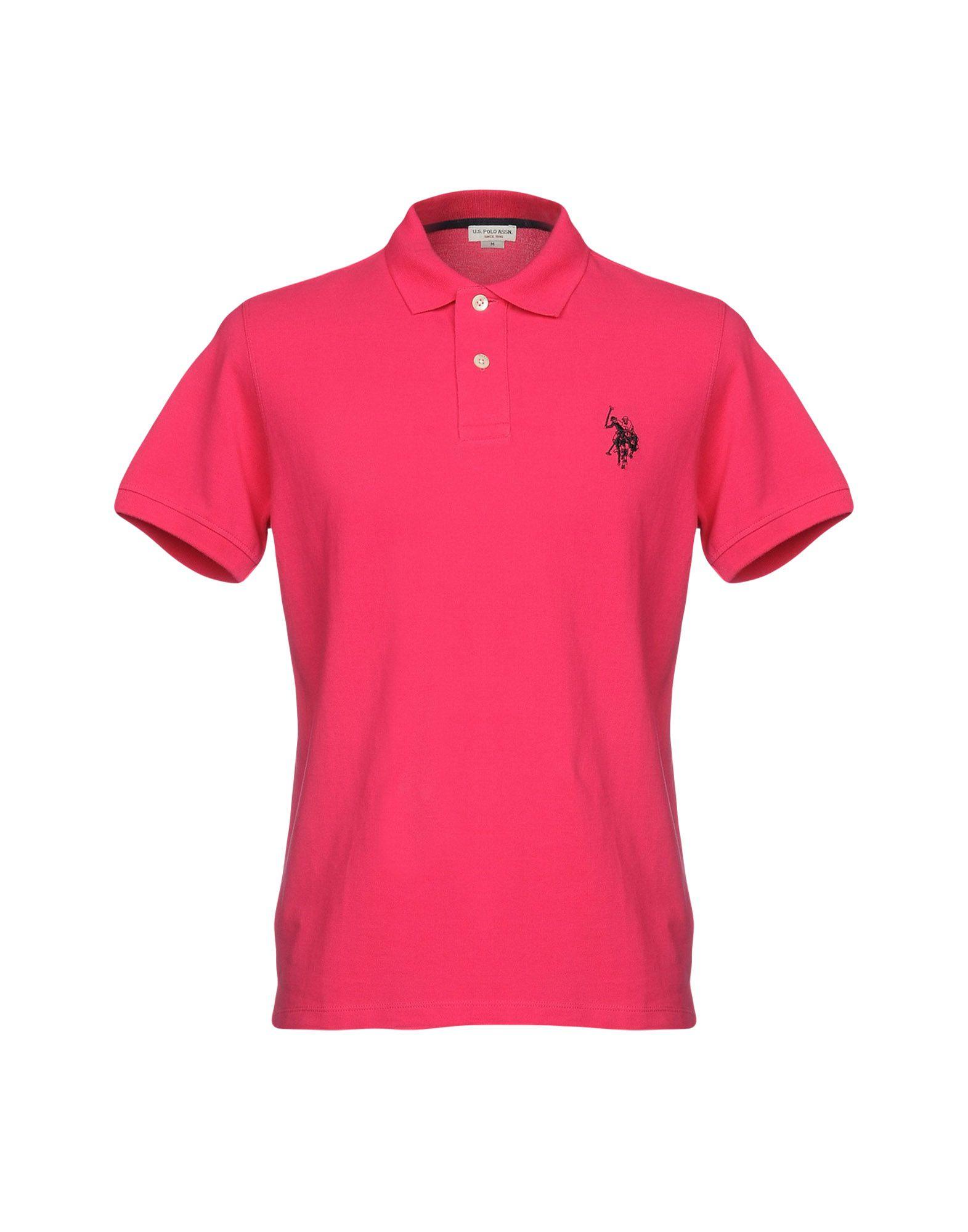 《送料無料》U.S.POLO ASSN. メンズ ポロシャツ フューシャ S コットン 100%