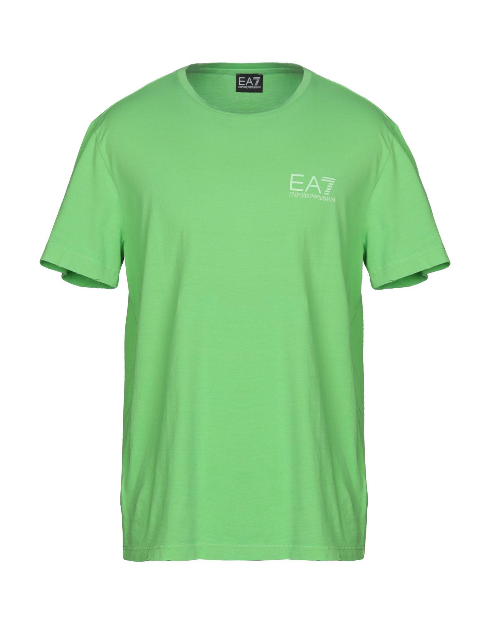 《送料無料》EA7 メンズ T シャツ ライトグリーン XL コットン 100%